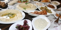 A typical mezze at a local Yafo restaurant